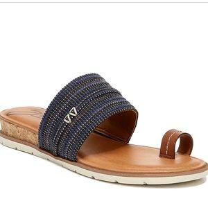 Zodiac Textured Toe Ring Platform Sandal NEW